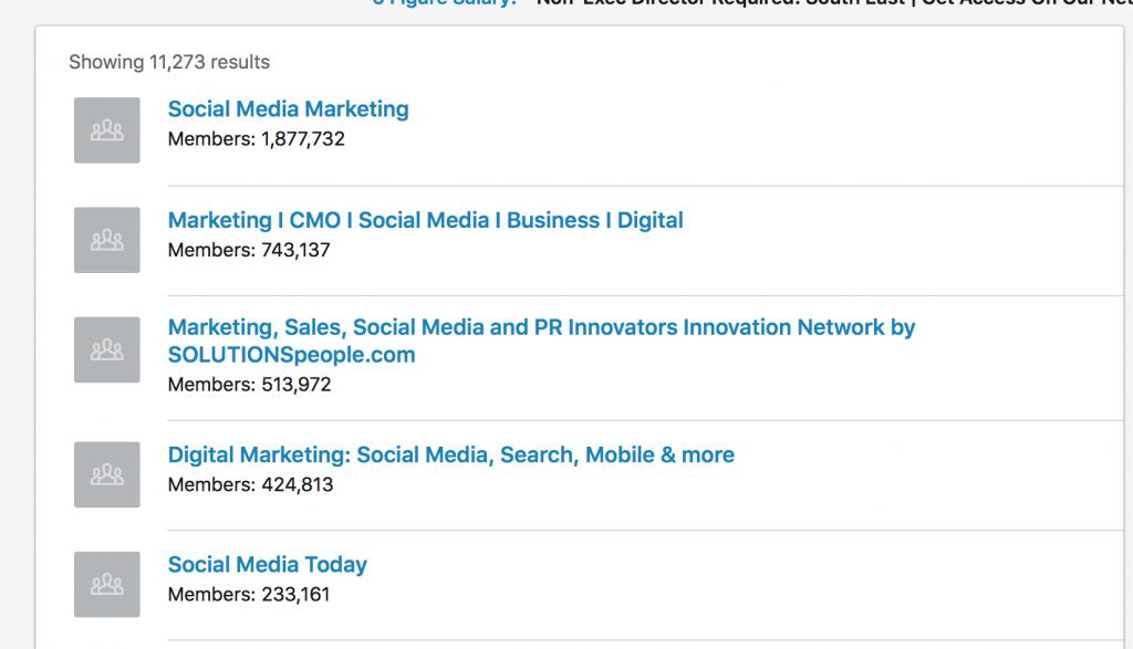 Joining groups on LinkedIn