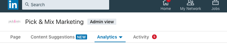 Where are linkedin analytics